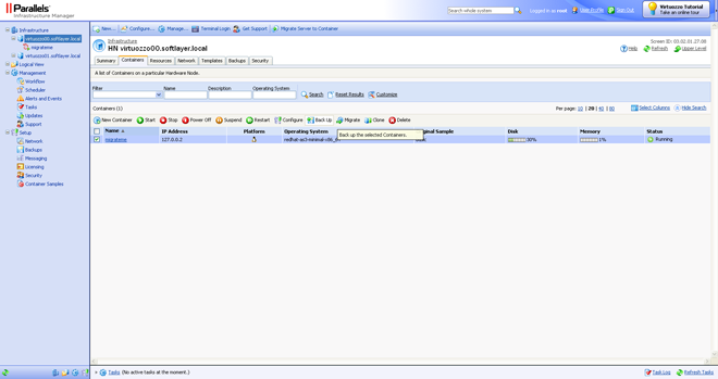 Parallels Virtuozzo Screenshot Virtualize Your Hosting to Save Money, Time, and Energy