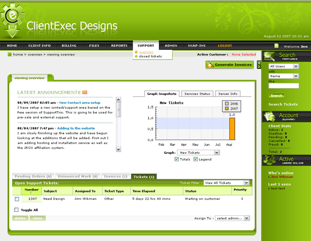 ClientExec Customized Design Coincida Seu Sistema de Faturamento ClientExec com Seu Web Design