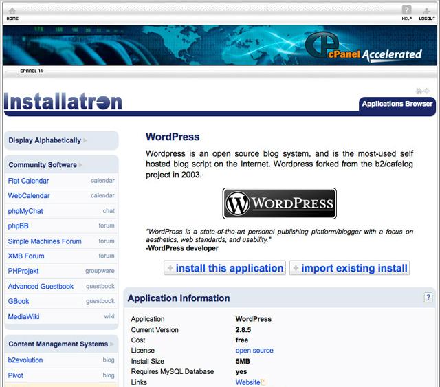 Installatron cPanel LicenseCube Acolhe um Novo Provedor Na Nossa Lista: Installatron!