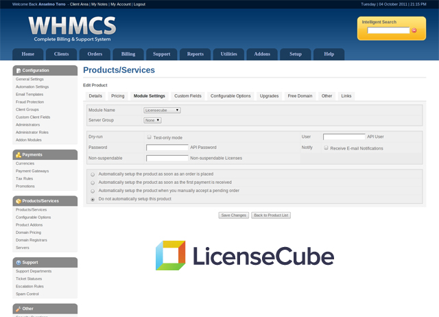 whmcs module setup Hosting Licenses Made Easy...