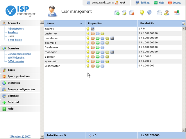 ispmanager control panel ISPmanager   Take Control of Your Hosting Environment