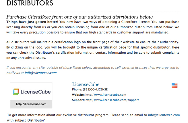 clientexec distributor LicenseCube the Official ClientExec Distributor!